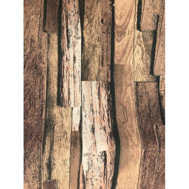 Canvas fast bomuld. Brune træstammer