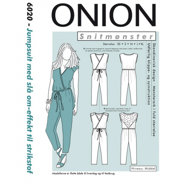 Onion 6020 Bukse dragt m. slå-om effekt