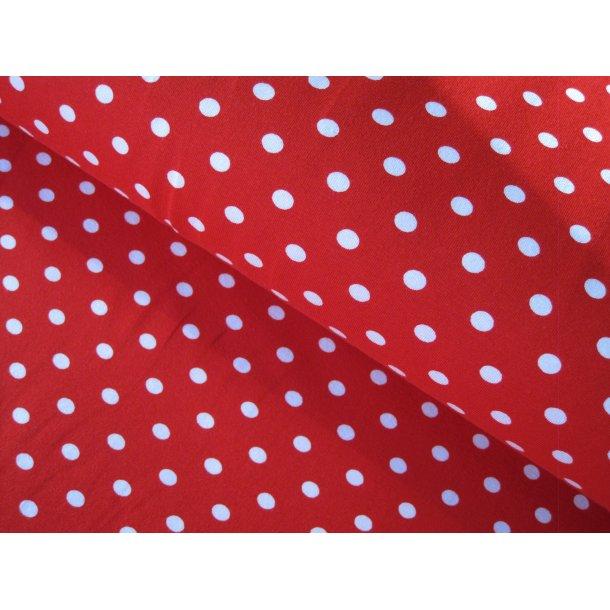 Jersey, 7 mm hvide prikker, orange/rød bund