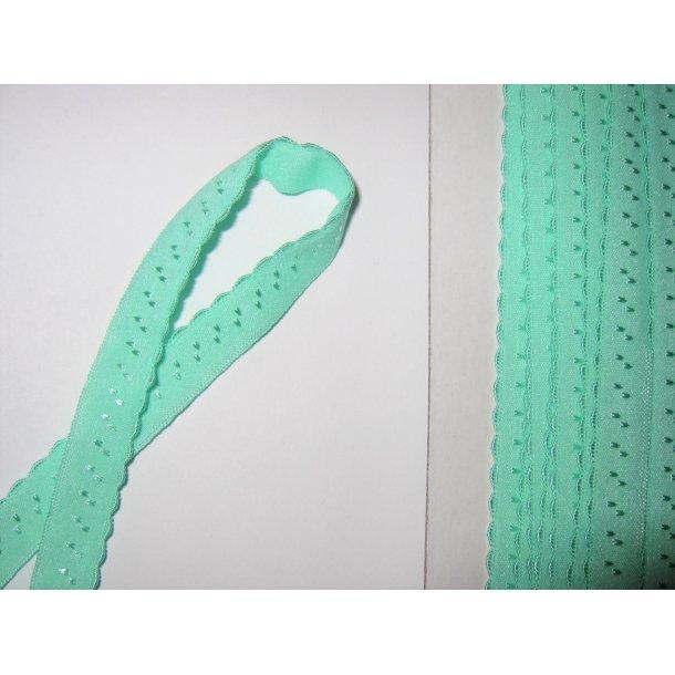 Folde elastik, 1 cm lys mint, fv. 19