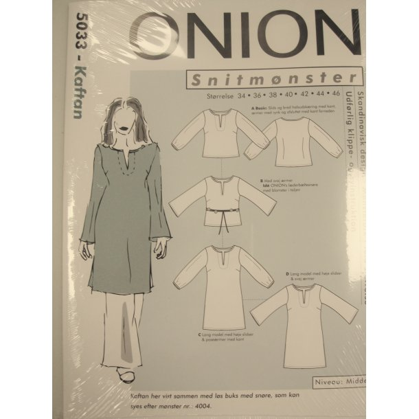 Onion 5033 Kaftan bluse kort/lang model
