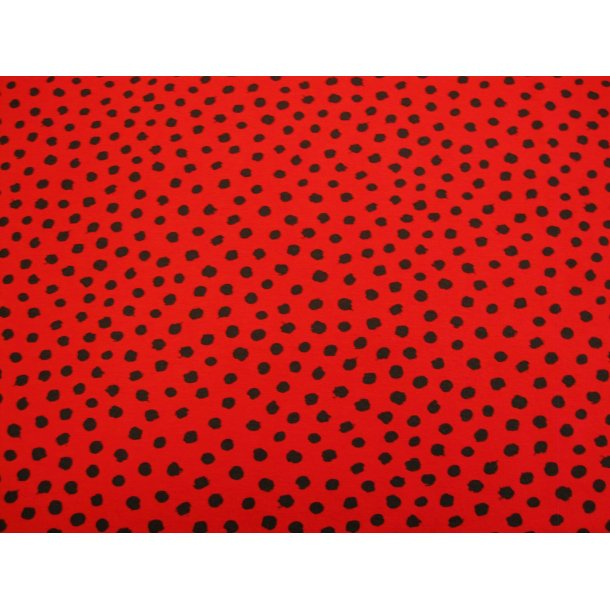 Jersey prik, sort asymmetrisk form, rød bund