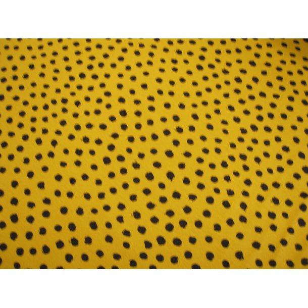 Jersey prik, sort asymmetrisk form, gul bund