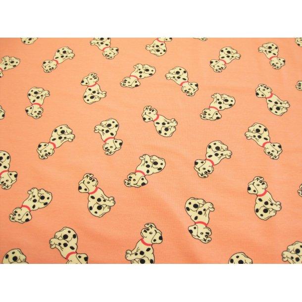 Jersey, søde dalmatiner, lyserød bund