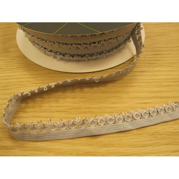 Blonde elastik, 1,4 cm lys grå fv. 07