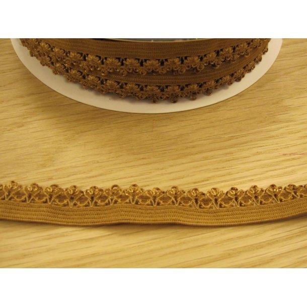 Blonde elastik, 1,4 cm gylden brun, fv. 846