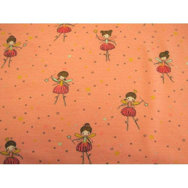 Jersey, Skøn ballerina m. stjerne og krone, lyserød bund