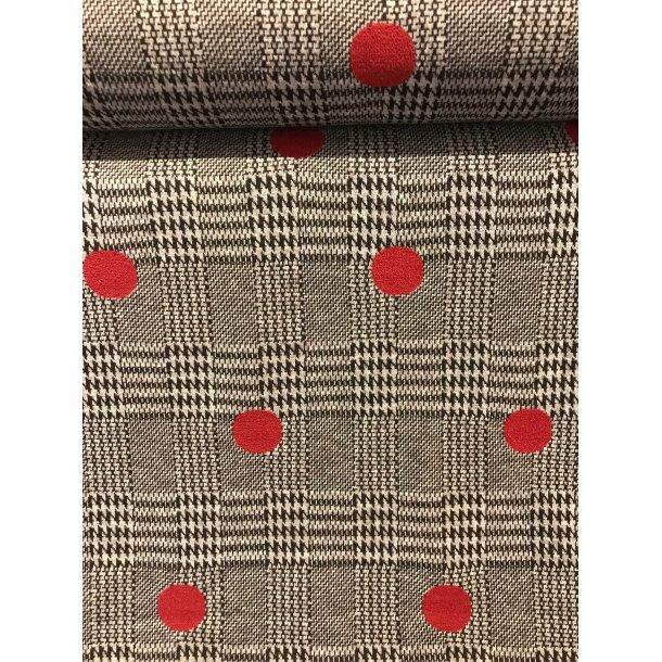 Jacquard, Skotsk tern m. hanefjed og rød prikker