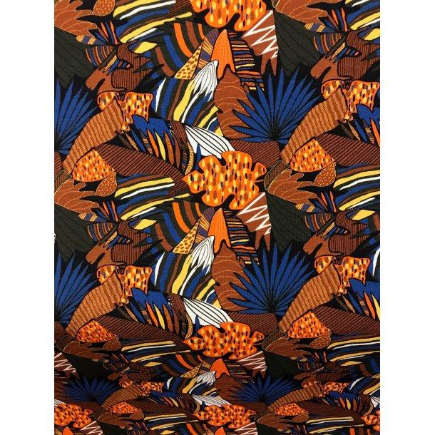 Jersey digital, Drøn flotte blade i brun/orange/gul og en flot blå, sort bund