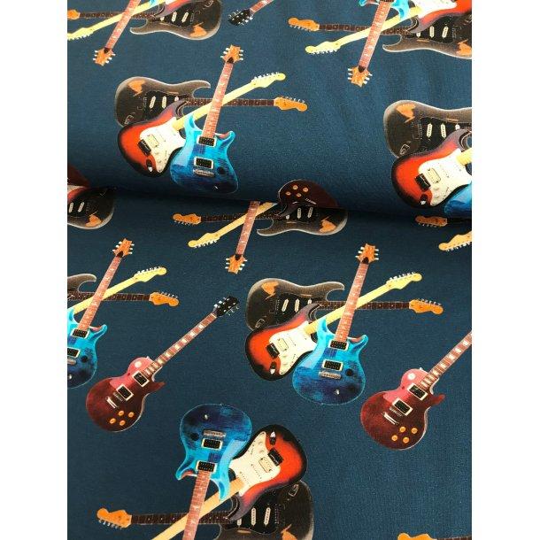Jersey digital, guitar på blå bund