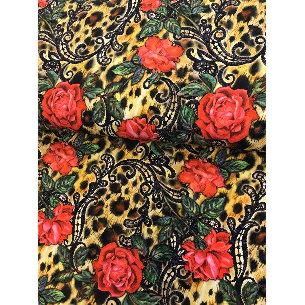 Jersey digital, røde roser m.