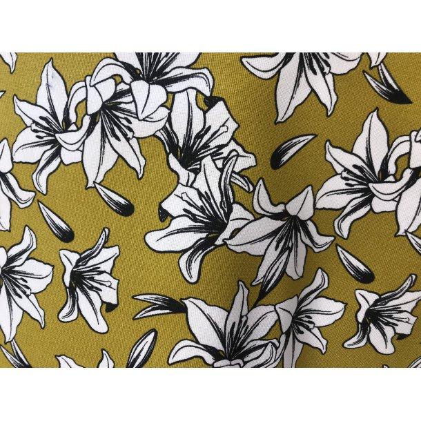 Fast bomuld canvas, karry bund med flotte blomster