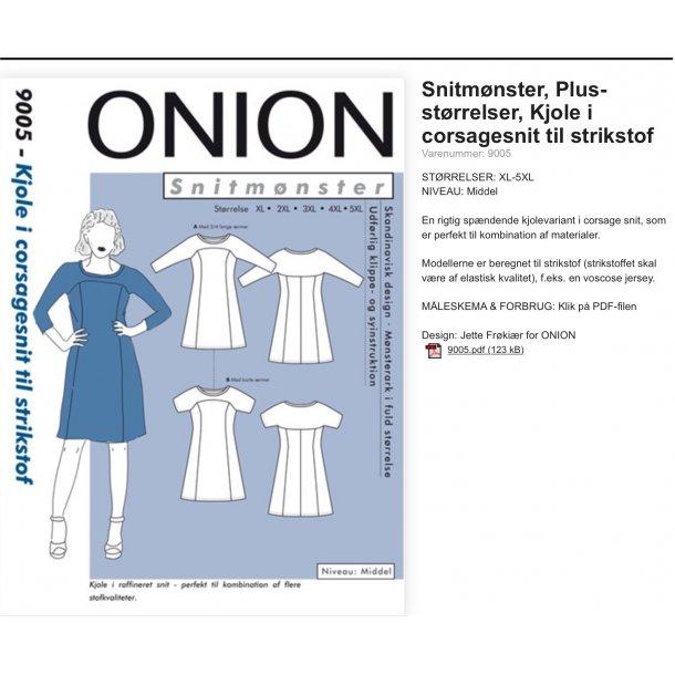 Onion 9005 Plus Size kjole