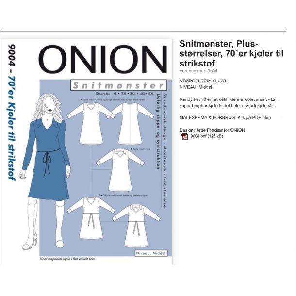 Onion 9004 Plus Size kjole