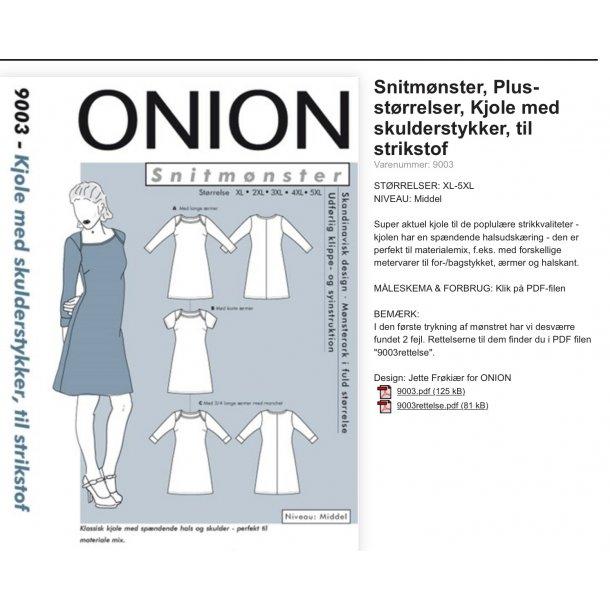 Onion 9003 Plus Size kjole