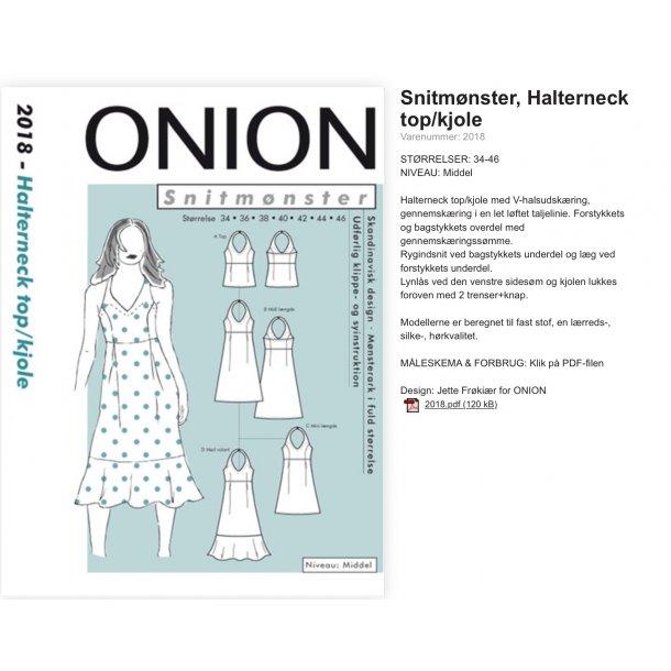 Onion Snitmønster 2018 (Halterneck topkjole)