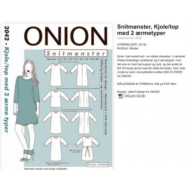 Onion 2042 kjole og top Snitmønster