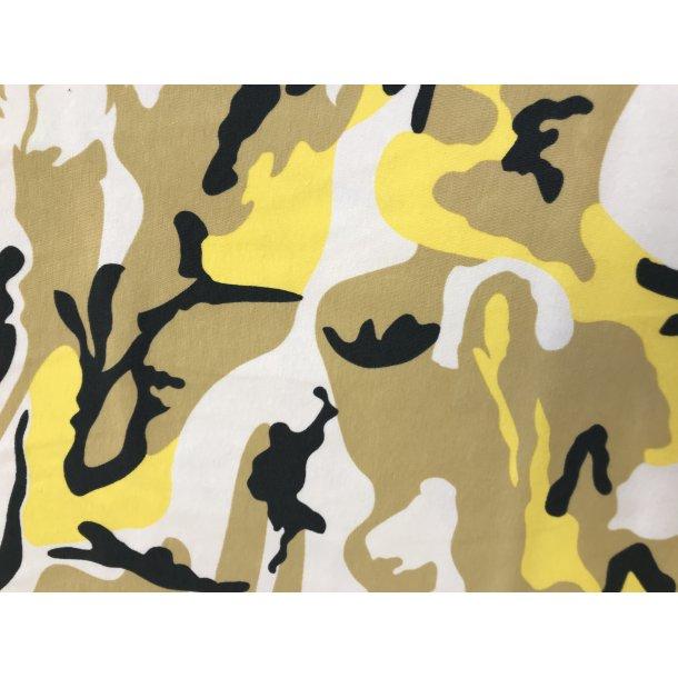 Jersey, camouflage gul/karry/oliven, 119 kr pr m