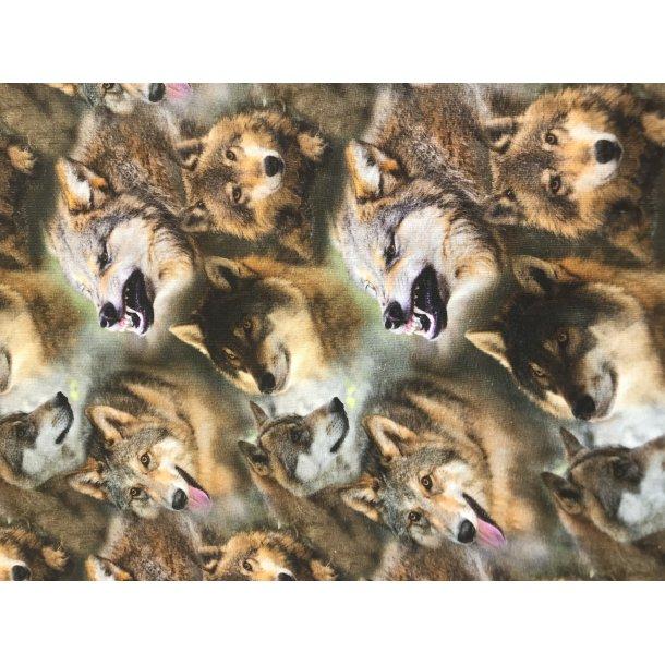 Jersey digital ulve i brune farver