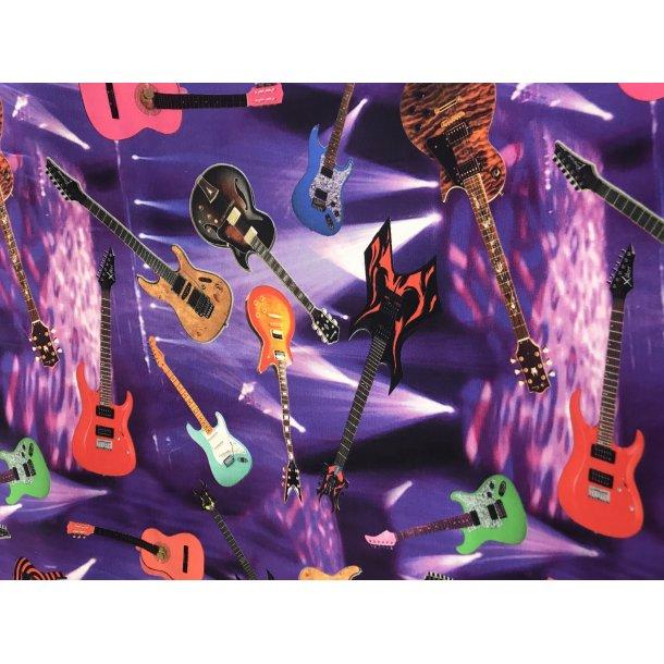 Jersey digital lilla bund med guitar musik