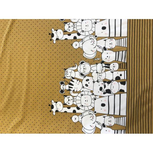Jersey digital bord med tegninger, 2 x 75 cm høj ubegrænset længde