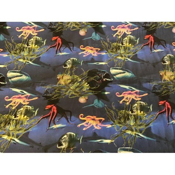 Jersey Digital, Haj, blæksprutte og piranha, blå bund
