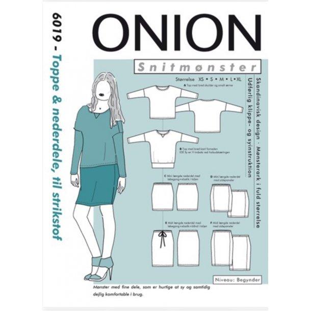 Onion 6019 Bluse og nederdel
