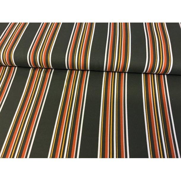 Jersey strib, Flot retro, brun/orange/hvid