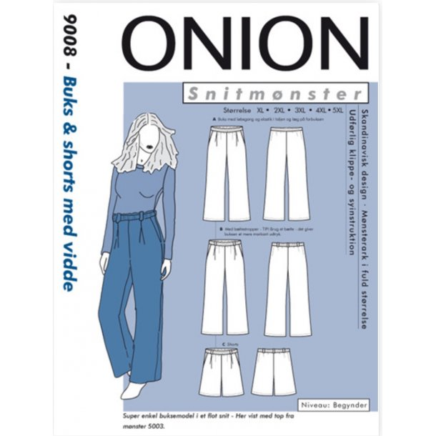 Onion 9008 Plus Size buks og shorts