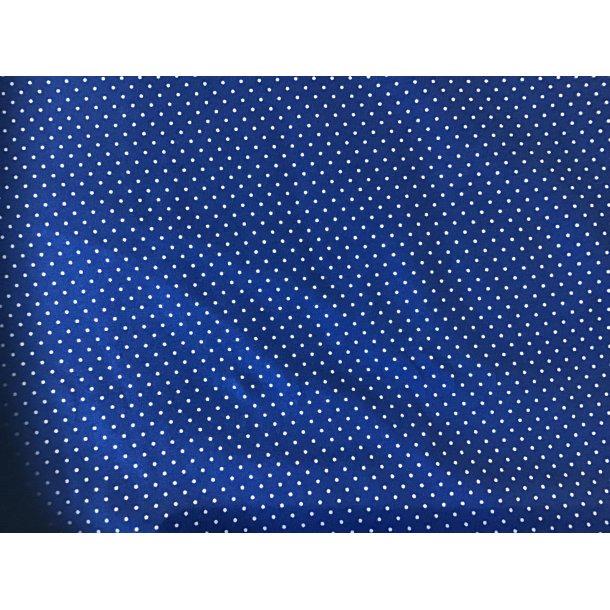 Jersey prik, Mini hvid, koboltblå bund
