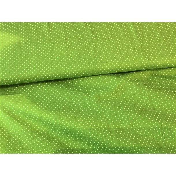 Jersey prik, Mini hvid, limegrøn bund