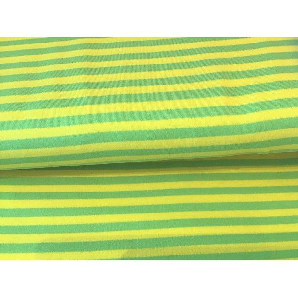 Jersey strib, gul/grøn striber