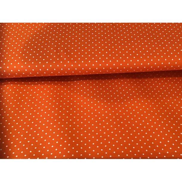 Jersey prik, Mini hvid, orange bund