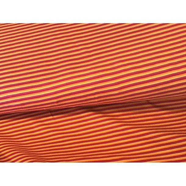 Jersey strib, Smal, orange/gul