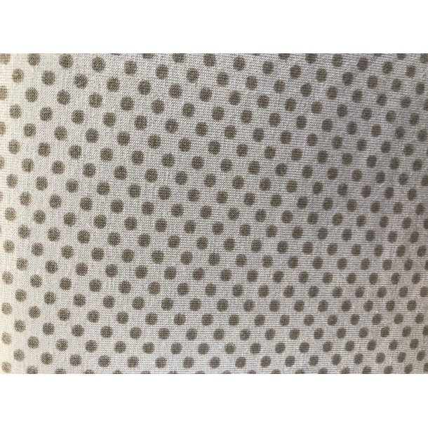 Jersey prik, mini grå på flot støvblå bund