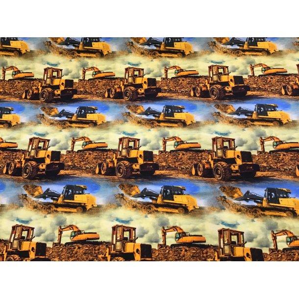 Jersey digital, gule gravmaskiner i grusgraven
