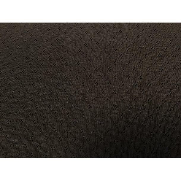 Jersey, koks grå m. hulmønster, rigtig god til bl.a. undertøj