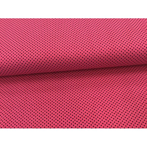 Jersey prik, mini sort, pink bund