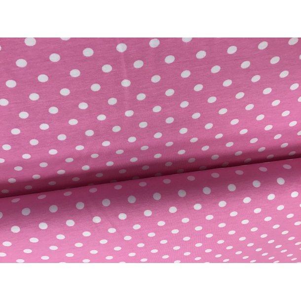 Jerser prik, 0,50 cm hvid, lyserød bund
