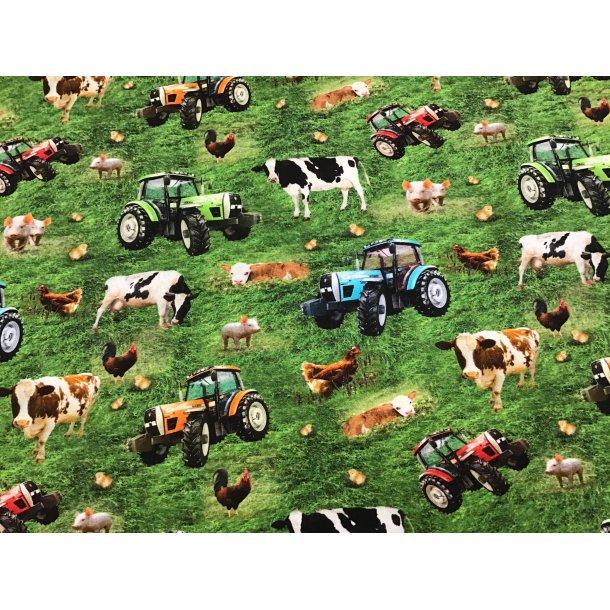 Jersey digital, bondegårdens liv med traktoren på marken
