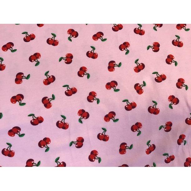 Jersey, små kirsebær, lyserød bund