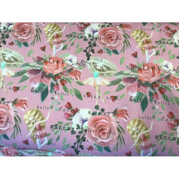 Jersey digital, Roser og ballerina, rosa bund