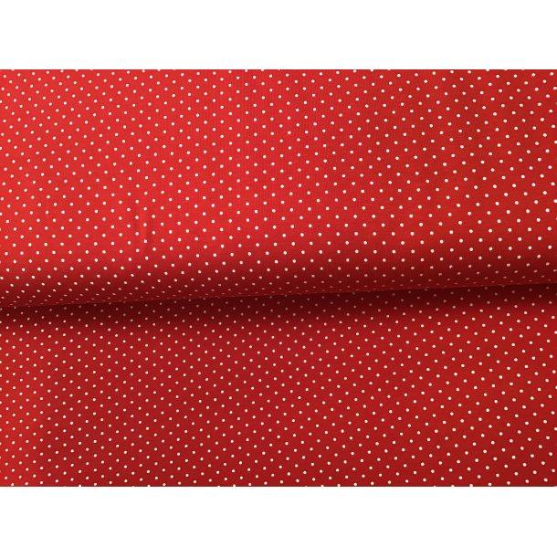 Jersey prik, Mini hvid, rød bund