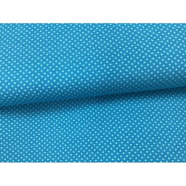 Jersey prik, Mini lysblå, flot tyrkis bund