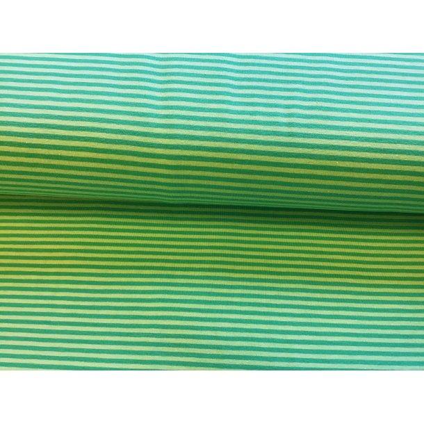 Jersey strib smal, 2 grøn/blå toner