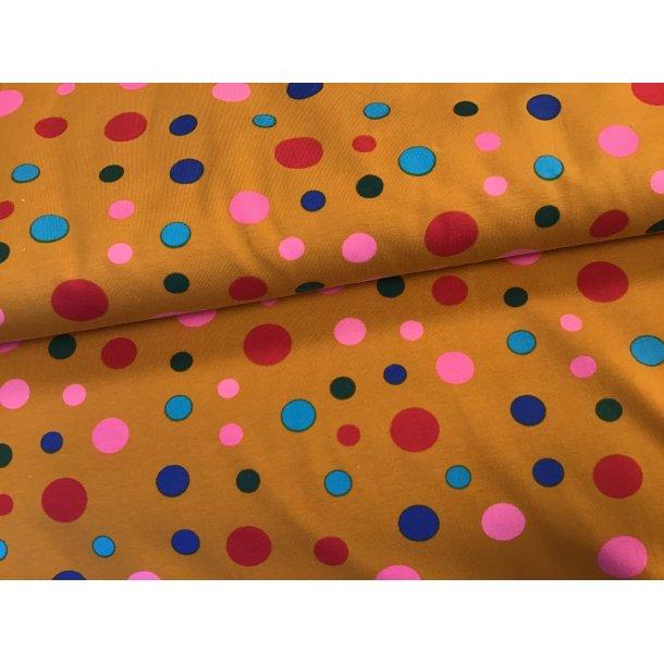 Jersey prik, turkis/sort/lyserød/rød multifarvet, karry bund