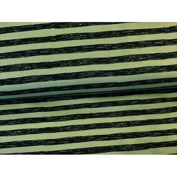 Jersey strib, 1 cm asymmetrisk grå/sort