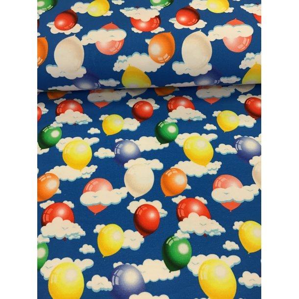 Jersey digital, skønne farvede balloner i skyerne, kobolt blå bund
