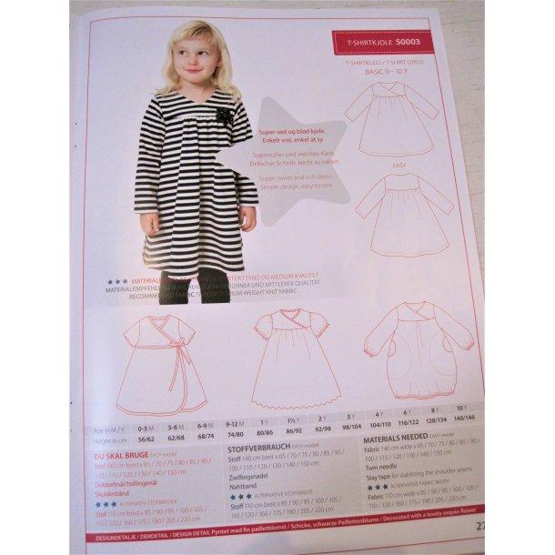 Minikrea 50003 Pige kjole m/slå-om effekt