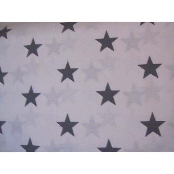 Fast bomuld, Grå stjerner, hvid bund